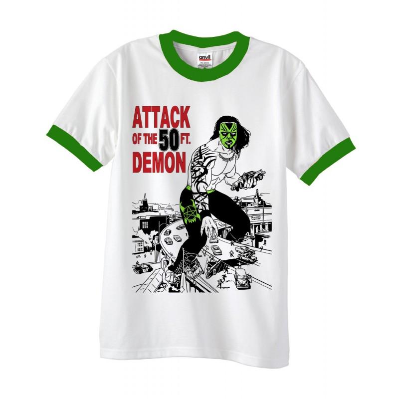 Kodama chikara batiri attack of the 50 foot demon t for Attack of the 50 foot woman t shirt