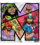 Macho Man M by 500 Level T-shirt
