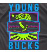 "- Clotheslined Apparel - Vintage Soft T-shirt Young Bucks ""Worldwide Remix"""