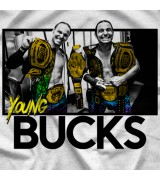 "- Clotheslined Apparel - Vintage Blend Soft T-shirt Young Bucks ""Legacy"""