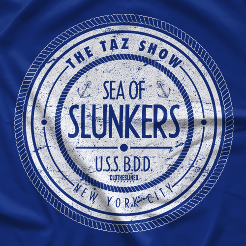 "- Clotheslined Apparel - Vintage Blend Soft T-shirt The Taz Show ""Sea of Slunkers"""