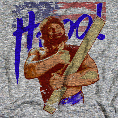Hacksaw Jim Duggan Flag T-shirt