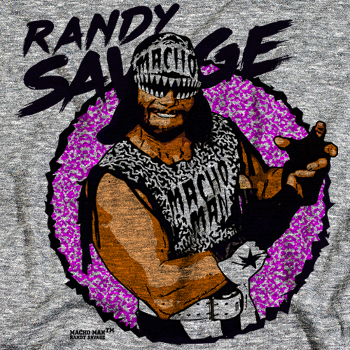 Randy Savage Macho by 500 Level T-shirt