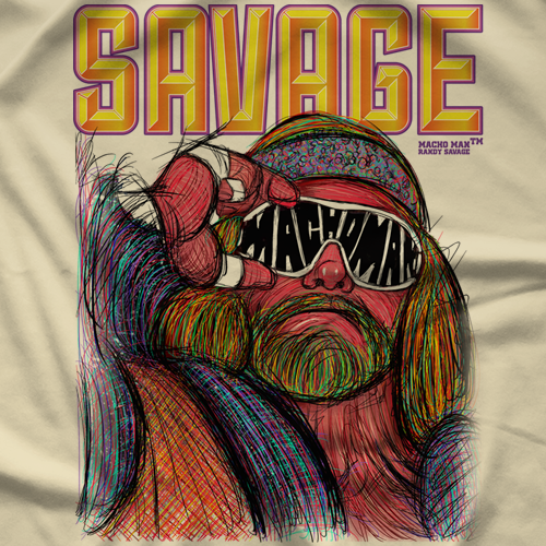 Macho Man Glasses by 500 Level T-shirt