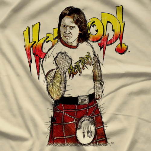 Rowdy Roddy Piper Fist R by 500 Level T-shirt