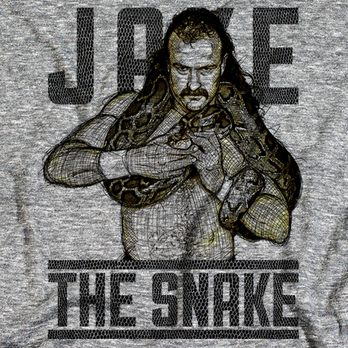 Jake The Snake Sketch Color T-shirt