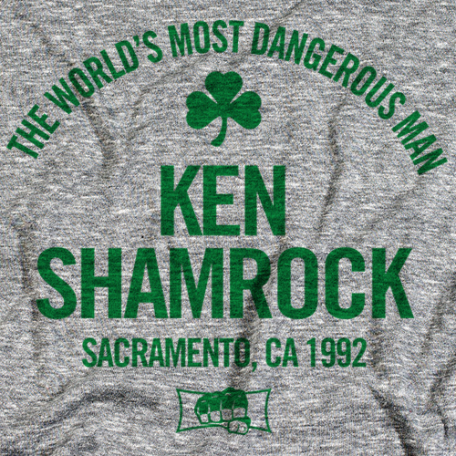 Ken Shamrock Text Gr 500 level T-shirt