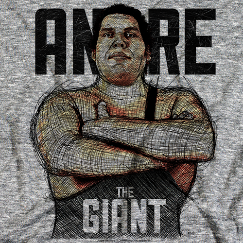 Andre The Giant Andre Sketch 500 Level T-shirt