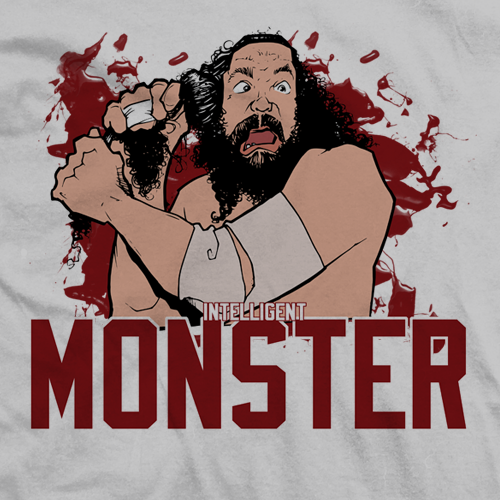 Bruiser Brody Intelligent Monster T-shirt