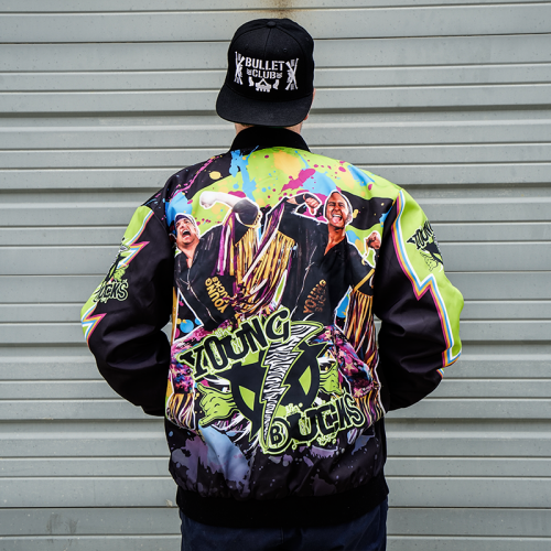 PRE-ORDER: Sublimated Young Bucks Retro Style Jacket (Limited Run 8-10 Weeks To Ship)