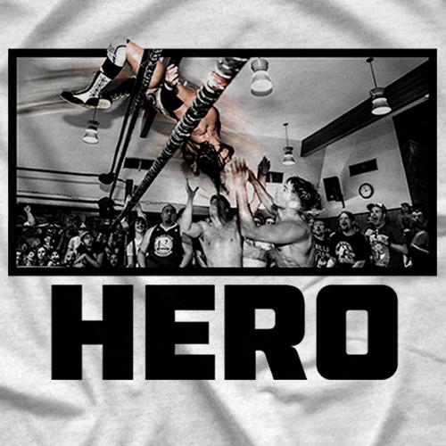 "- Clotheslined Apparel - Vintage Blend Soft T-shirt Chris Hero ""Legacy"""