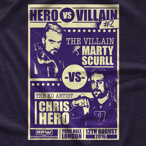 Hero vs Villian 2 T-shirt