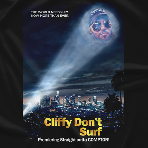 Cliffy Don't Surf Poster