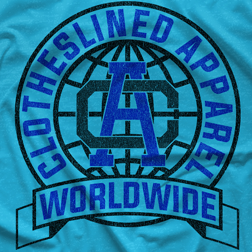 Clotheslined Global Tee