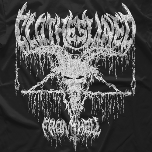 "- Clotheslined Apparel - Vintage Blend Soft T-shirt Clotheslined ""From Hell"""