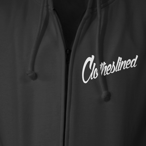 "- Clotheslined Apparel - Full-Zip Hoodie Clotheslined ""Retro"""