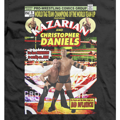 Christopher Daniels & Kazarian Comic Cover T-shirt