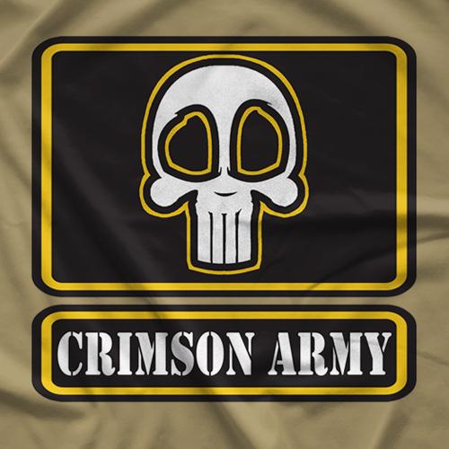 Crimson Army Patch T-shirt