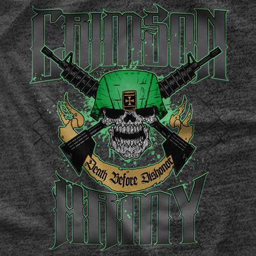 Crimson Death Before Dishonor T-shirt