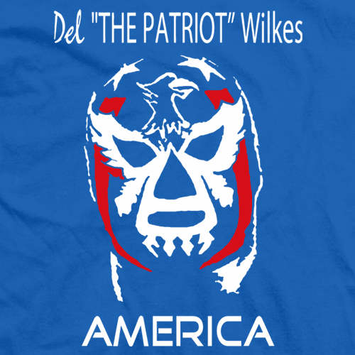 Del Wilkes America Mask T-shirt