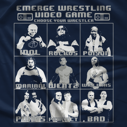 Emerge Wrestling Video Game T-shirt