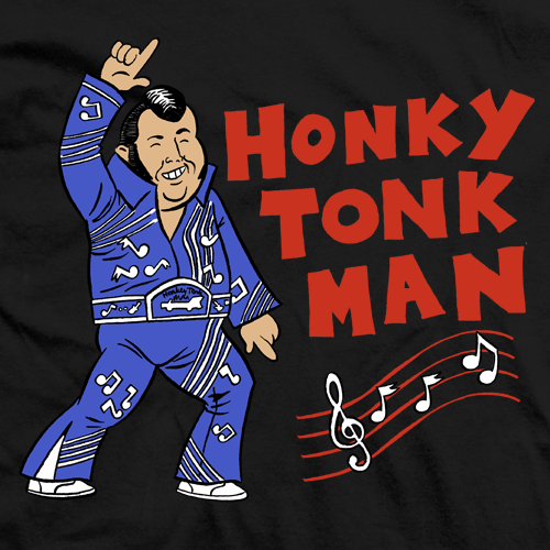 Honky Tonk Man Caricature T-shirt