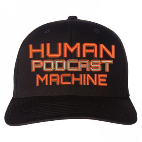 human podcast machine with taz