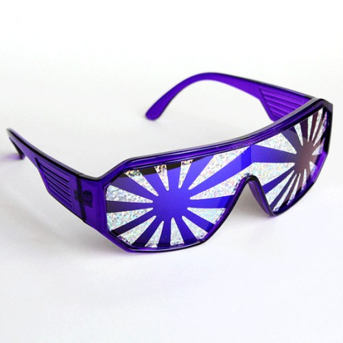 Macho Man Purple Burst Glasses