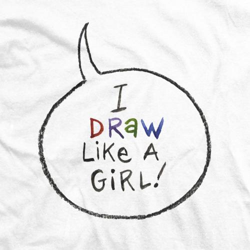 Draw Like A Girl Word Balloon