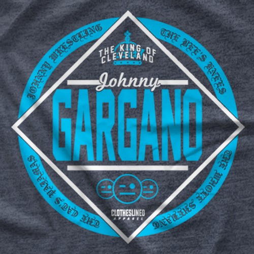 "- Clotheslined Apparel - Vintage Blend Soft T-shirt Johnny Gargano ""King"""