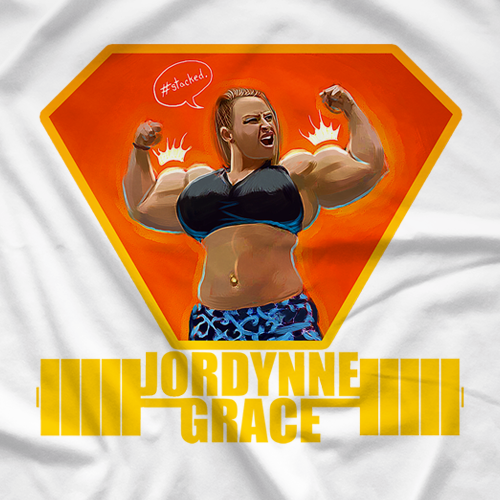 Jordynne Grace #stacked T-shirt