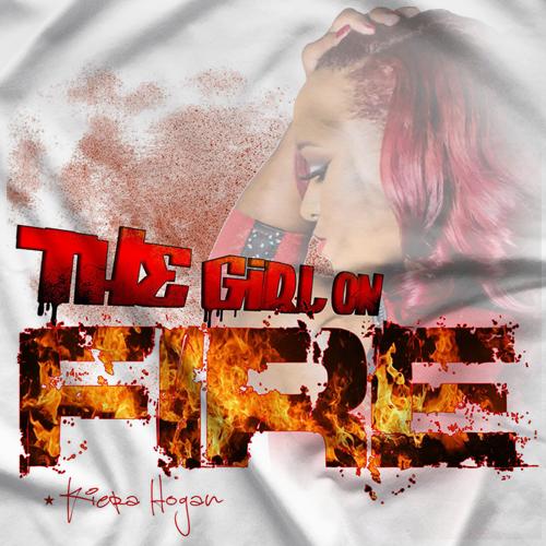 Girl On Fire White T-shirt
