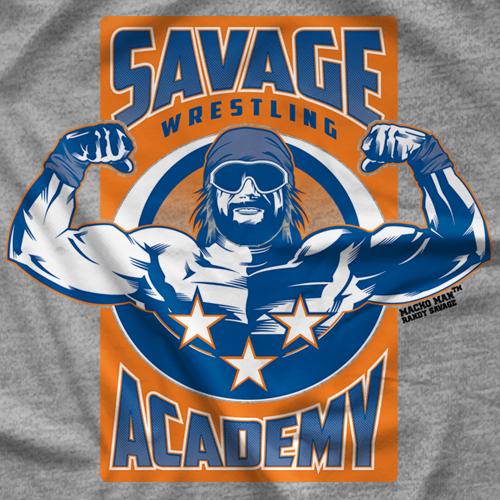 """Macho Man"" Randy Savage Savage Academy T-shirt"