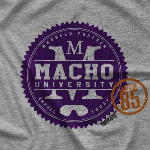 """Macho Man"" Randy Savage Macho University  T-shirt"