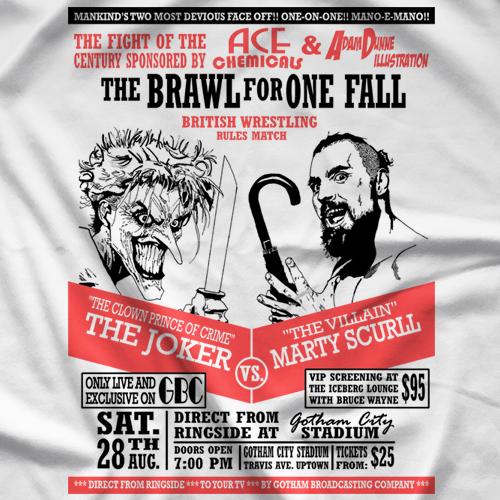 Marty Scurll Villain vs Joker T-shirt