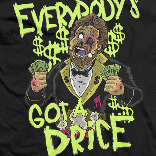 Million Dollar Zombie T-shirt