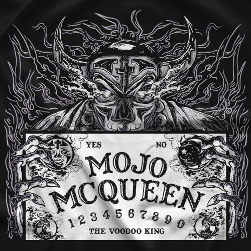 Mojo McQueen Ouija Board Black & White T-shirt