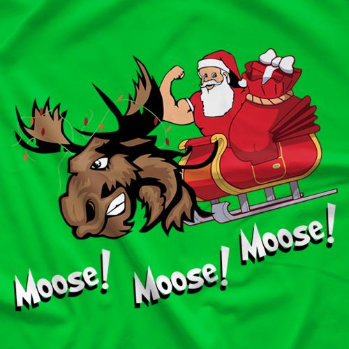 Moose Xmas T-shirt