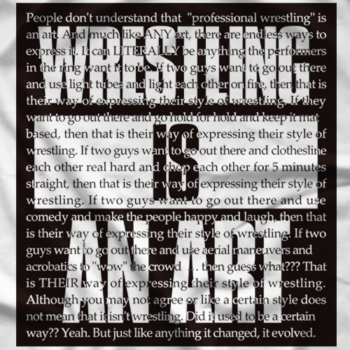 Wrestling Is An Art T-shirt