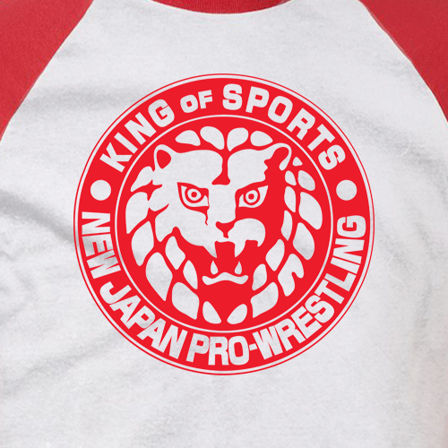 KUSHIDA Lion Mark Baseball T-shirt