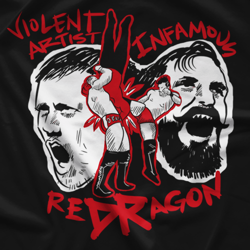 New Japan Pro Wrestling reDRagon T-shirt