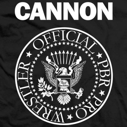 Arik Cannon Official PBR Pro Wrestler T-shirt