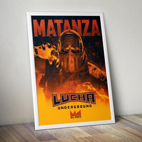 Matanza Print by Lucha Underground