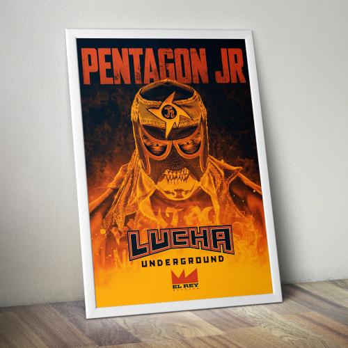 Pentagon Jr. Print by Lucha Underground