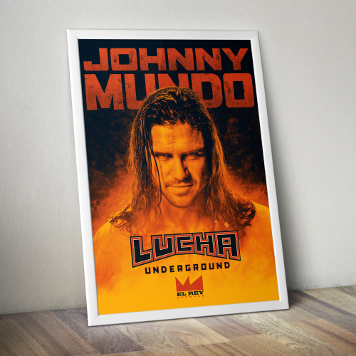 Johnny Mundo Print by Lucha Underground