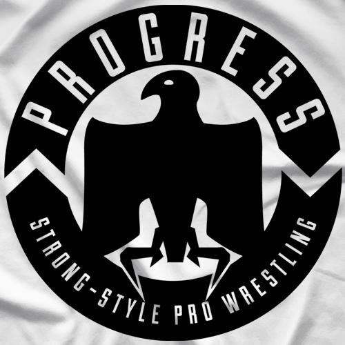 PROGRESS Wrestling Classic Logo - White T-Shirt