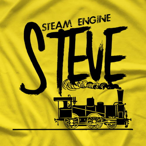 PWF Steam Engine Steve T-shirt