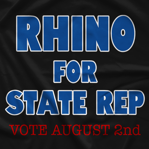 Rhino Rhino For State Rep T-shirt