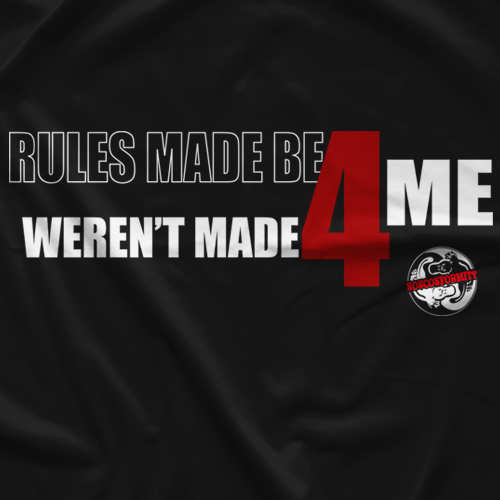 Rob Van Dam Rules Made Be4 by Nonconformity Clothing T-shirt