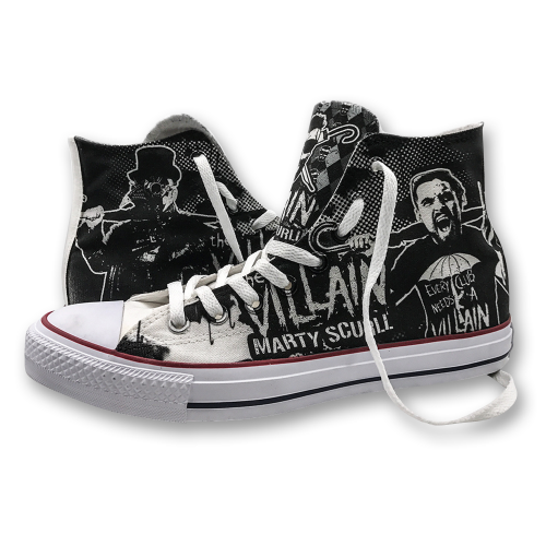 PREORDER: Marty Scurll Converse High Tops | 4-6 weeks to ship WORLDWIDE